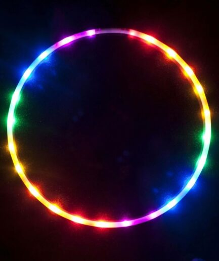 New Glow Cheap Collapsible Weighted Led Hula Light Hoop