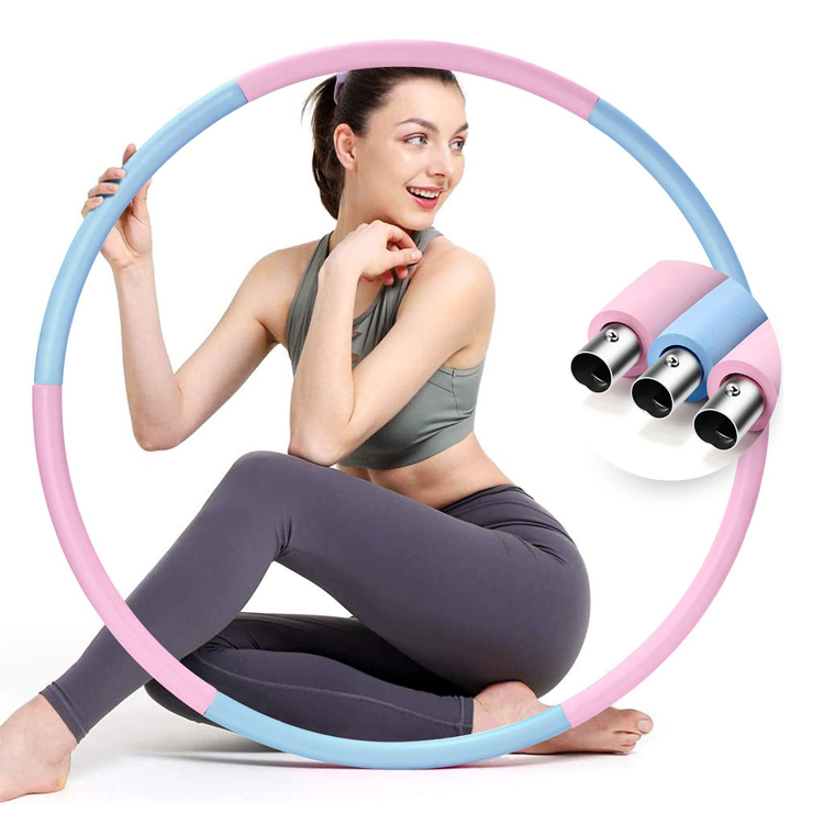 Harbour Home Exercise Weighted Stainless Steel Hula Ring